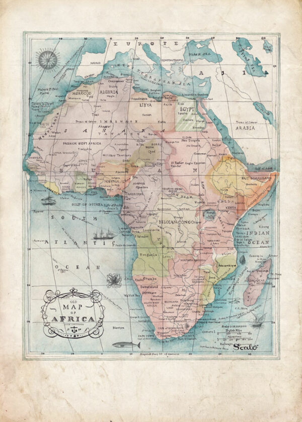 AfricanMap_Watercolour